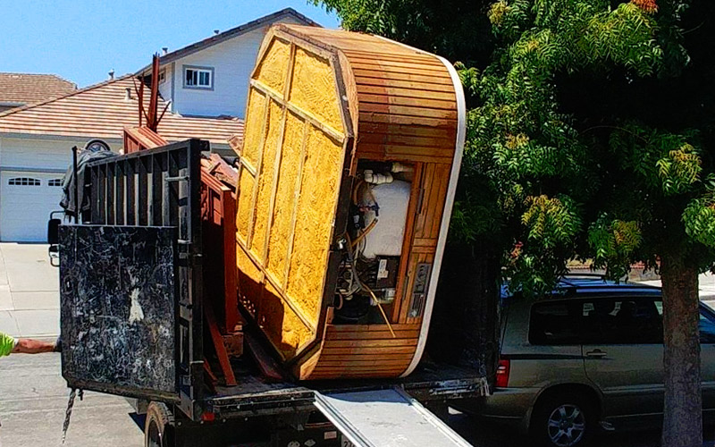 Junk Removal Hot tub